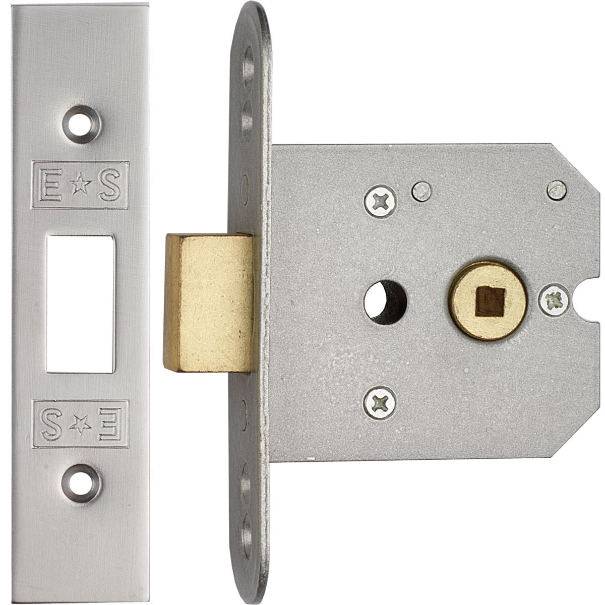 Heavy Duty Flat Latch 3 Quot Satin Steel Fll8030scp Door