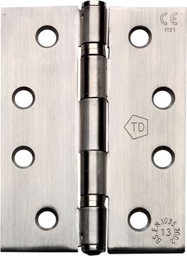 "Picture of 4"" SATIN STAINLESS STEEL HINGES - SSH4-2"