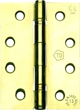 "Picture of 4"" POLISHED BRASS HINGES - BBBH4-3"