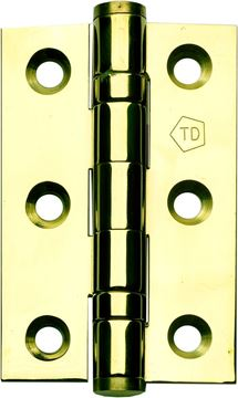 "Picture of 3"" POLISHED BRASS HINGES - BBBB3"