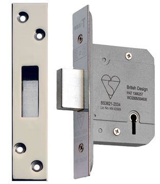 "Picture of BS 5-LEVER DEADLOCK 3"" - BS5LDLC3"