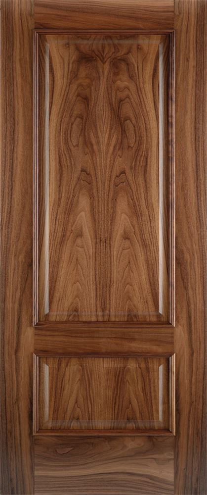 Iris 2 Panel Walnut Bespoke Door Internal Doors