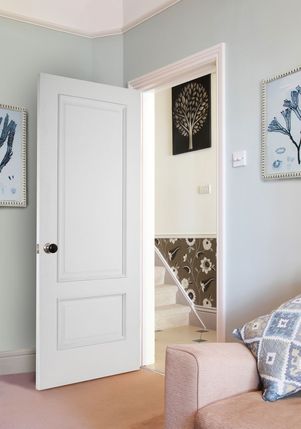 Iris 2 Panel White Bespoke Door Internal Doors Charles