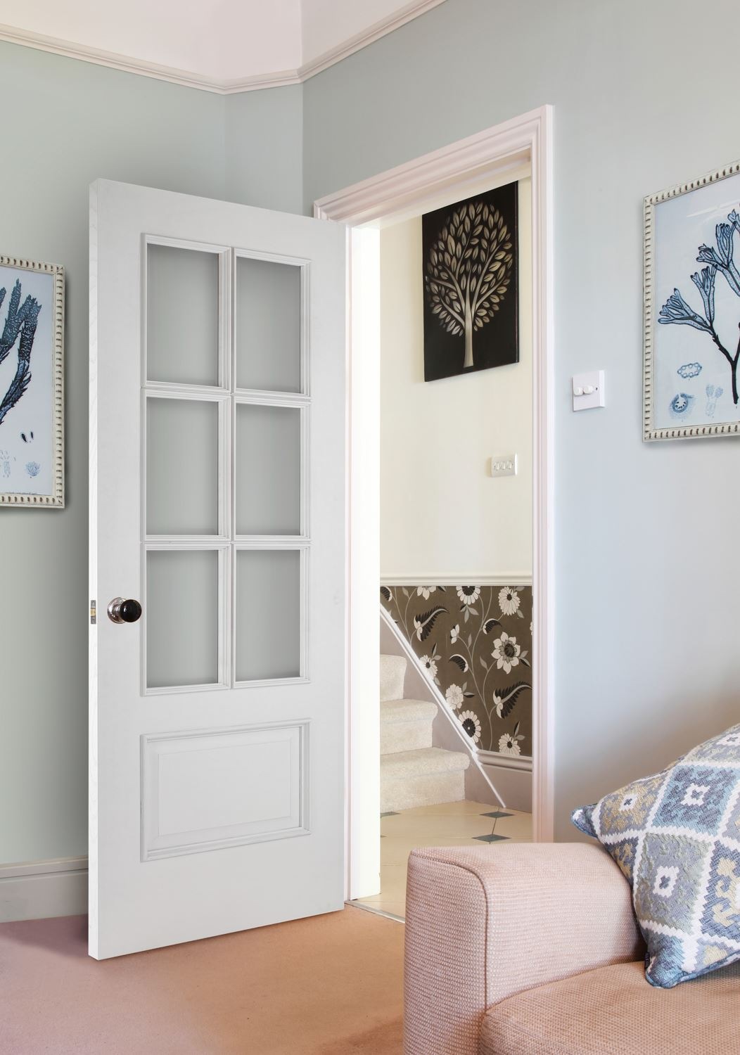 Iris 6 Light White Bespoke Door Internal Doors Charles