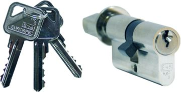 Picture of EURO PROFILE CYLINDER MP10 (KEY & TURN)
