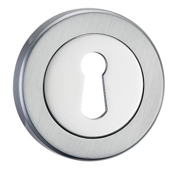 Picture of ESSENTIALS - POLISHED & SATIN CHROME ESCUTCHEON