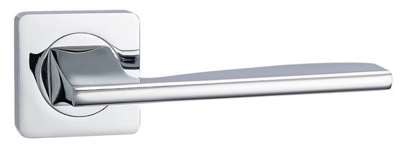 Picture of HEBBE LEVER ON SQUARE ROSE - POLISHED CHROME