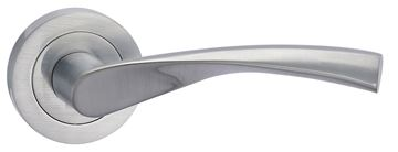 Picture of ERIE LEVER ON ROSE - SATIN CHROME