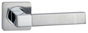 Picture of ELBRUS LEVER ON SQUARE ROSE - POLISHED & SATIN CHROME