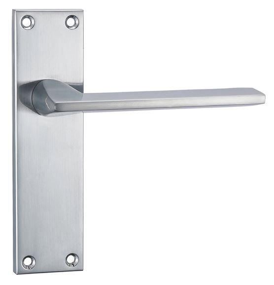 Picture of FOGGIA LEVER ON BACKPLATE - SATIN CHROME