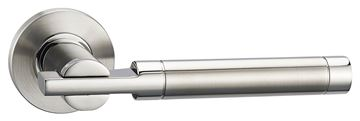 Picture of ELBE LEVER ON ROSE - STAINLESS STEEL