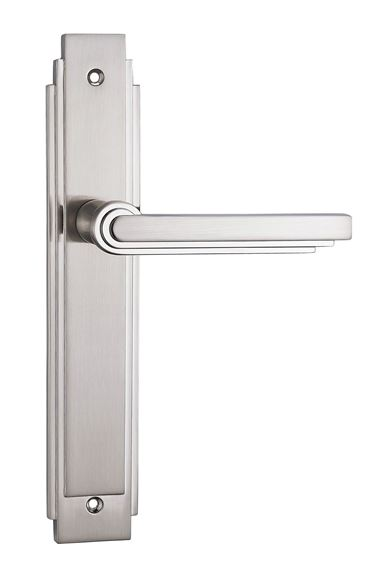 Picture of VISO LEVER ON BACKPLATE - BRILLIANTE CHROME & PEARLESCENT NICKEL