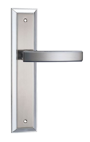 Picture of CERVATI LEVER ON BACKPLATE - BRILLIANTE CHROME & PEARLESCENT NICKEL