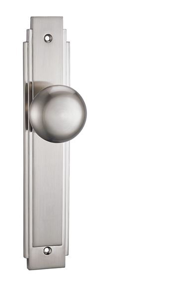 Picture of CADRIA KNOB ON BACKPLATE - BRILLIANTE CHROME & PEARLESCENT NICKEL