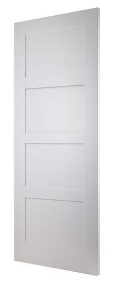 Picture of WHITE CONTEMPORARY 4-PANEL