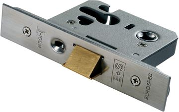 "Picture of 3"" EURO PROFILE NIGHT LATCH - GARAGE DOOR HARDWARE"