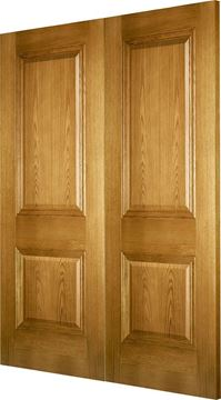 Picture of KENSINGTON 2-PANEL OAK (FD30) REBATED PAIR - LHA