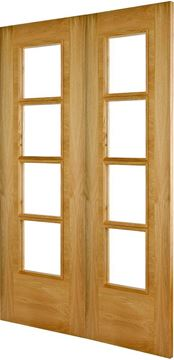 Picture of ISEO B4514 OAK 4-LIGHT REBATED PAIR - LHA
