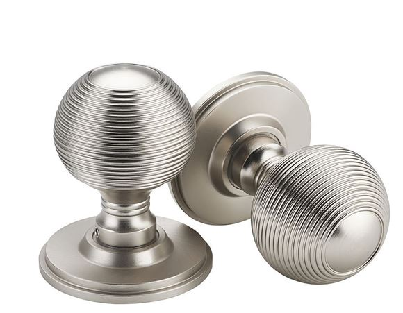 Picture of ZIGRINATO MORTICE KNOBS - COOL BRUSHED NICKEL