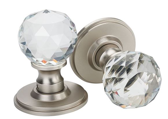 Picture of CRISTALLO MORTICE KNOBS - COOL BRUSHED NICKEL
