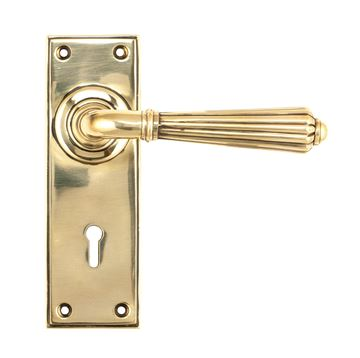 Picture of AGED BRASS HINTON LEVER LOCK SET
