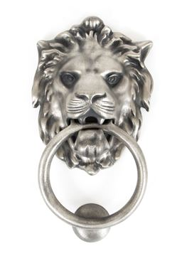 Picture of ANTIQUE PEWTER LION HEAD KNOCKER