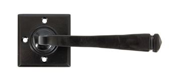 Picture of BLACK AVON LEVER ON ROSE SET UNSPRUNG