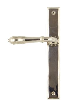 Picture of POLISHED NICKEL REEDED SLIMLINE LEVER LATCH SET
