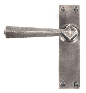 Picture of ANTIQUE PEWTER STRAIGHT LEVER LATCH SET