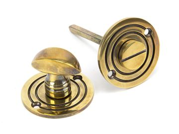 Picture of AGED BRASS ROUND BATHROOM THUMBTURN