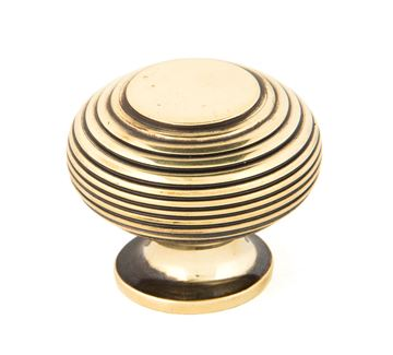 Picture of AGED BRASS BEEHIVE CABINET KNOB 40MM