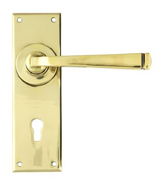 Picture of AGED BRASS AVON LEVER LOCK SET