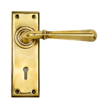 Picture of AGED BRASS NEWBURY LEVER LOCK SET