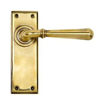 Picture of AGED BRASS NEWBURY LEVER LATCH SET