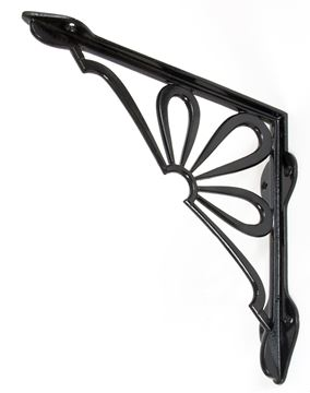 "Picture of BLACK 9"" X 9'' FLOWER SHELF BRACKET"