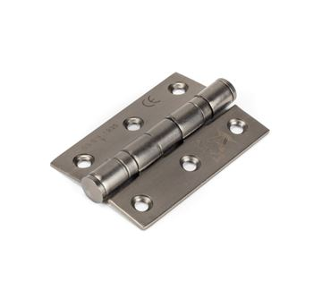 """Picture of AGED BRONZE 3"""" BALL BEARING BUTT HINGE (PAIR) SS"""