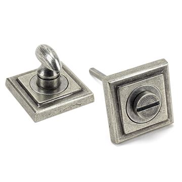 Picture of PEWTER ROUND THUMBTURN SET (SQUARE)