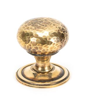 Picture of AGED BRASS HAMMERED MUSHROOM CABINET KNOB 38MM
