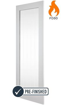 Picture of WHITE COTTAGE 1-LIGHT FIRE DOOR (FD30)