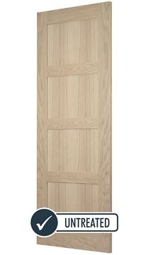 Picture of OAK CONTEMPORARY 4-PANEL