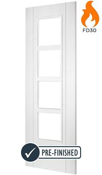 Picture of ISEO C4514 WHITE 4-LIGHT FIRE DOOR (FD30)