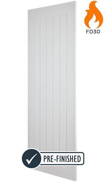 Picture of WHITE COTTAGE FIRE DOOR (FD30)